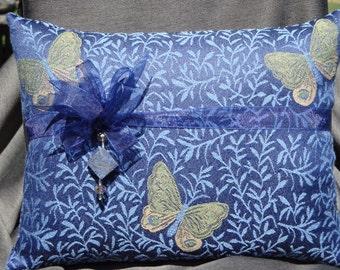 Blue Butterfly Lavender Filled Pillow/ Pillow Talk / Butterfly / Butterflies