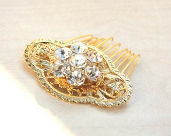 30% off!Crystal hair comb, Bridal Hair Comb, Gold hair comb, Crystal Hair Jewelry, Hair Accessories,Vinatge Hair Piece