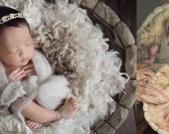 Organic Basket Style #8 - Low Rise - Newborns Sitters Toddlers - Photography Prop