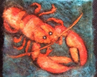 Lobstah Thyme Tile Needle Felting Kit