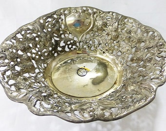"Godinger silver plated roses bowl centerpiece 7"" x 8"""