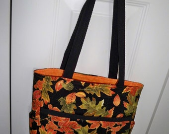 Handmade Quilted Fall Handbag Tote