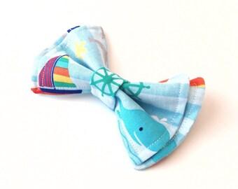 Boys Bow Tie - Nautical Fairy Tale Bow Tie - Bow Ties Toddler - Nautical Bow Tie - Beach Bow Tie - Anchor Bow Tie - Ship Bow Tie - Boat Tie