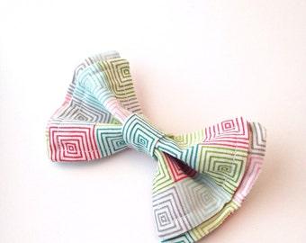 Boys Bow Tie - Hip To Be Square Bow Tie - Bow Ties Toddler - Newborn Bow Tie - Bowtie -Spring Bow Tie - Geometric Bow Tie - Square Tie