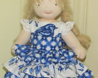 Bluebird doll dress american girl waldorf