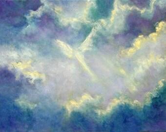 Angel Print, Angel Art, Spiritual Gift, Guardian Angel, Home decor, wall art