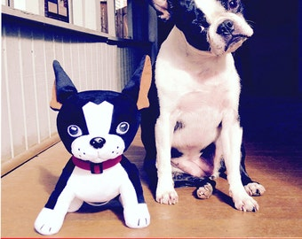 Mirabelle Happy Dog Adventure plush toy boston terrier