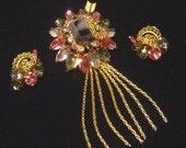 Stunning vintage Brooch & Earrings Designer Quality