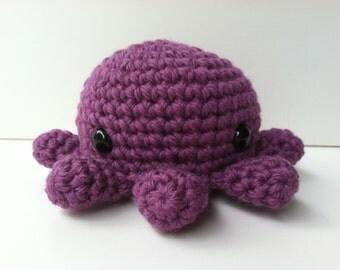 Amigurumi Crochet Purple Octopus Plush Toy Kawaii Plush Octopus Gift Under 25 Octopus Plushie Stuffed Animal Octopus Gift For Teen Girls