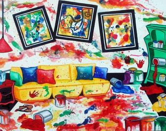 Abstracts, Abstract Art Prints, Wall Art, Home Decor, Fine Art Print Jackson Pollock