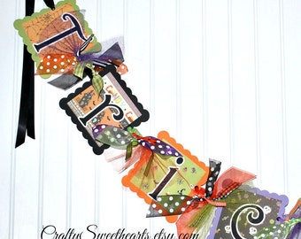 HALLOWEEN Trick or Treat Banner Party Decoration Fall Decor Ready to Ship