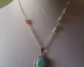 Vintage Turquoise and Bohemian style necklace.