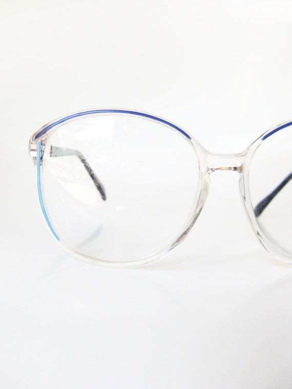 Blue Glasses Frames Ladies : Blue Glasses Frames 1980s Sea Cerulean Turquoise Girls Womens