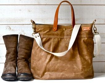 Sac de toile cirée unisexe, besace, Cabas, sac, lanières de cuir, besace femme, sac de voyage, Vogue, mode automne de couche