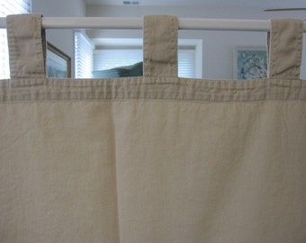 Tab Top Curtain, Khaki Cotton Tab Top Curtain 77 long....a total of 2 are available