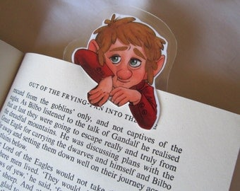 The Hobbit Bilbo Baggins clip over bookmark