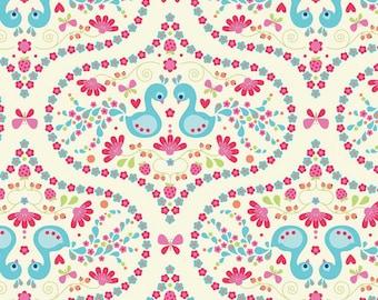 Riley Blake Fabric Flutterberry Plume Cream
