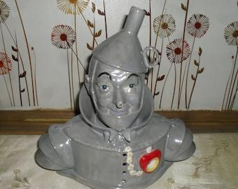 Vintage - Westland - The Wizard of Oz - Porcelain Tin Man Tea Light Candle Holder
