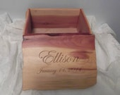 Handmade Cedar Keepsake Box - available in two sizes - personalized or not - made to order