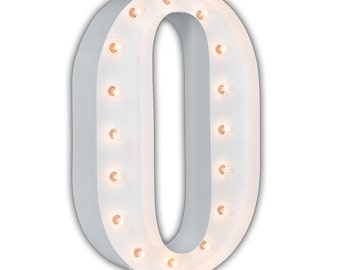 "Letter Light O - WHITE - 24"" Vintage Marquee Lights-The Original!"