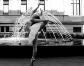 The Fountain - Black and White Photograph