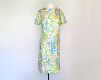RAINBOW WATERCOLOR // mod 60s day dress with pastel print