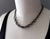Super chunky industrial mixed chain choker necklace