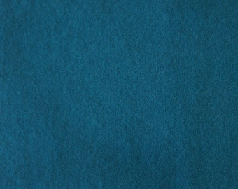 Teal Blue - Green Hand Dyed Felted Wool Fabric - Hand Dyed - - 100% Wool