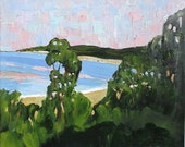 Impressionist Painting California Seascape MONTEREY BAY Beach Pacific Ocean Art Lynne French Landscape 16x20