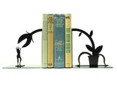 Feed Me Seymour Metal Art Bookends - Free USA Shipping