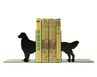 Golden Retriever Metal Art Bookends - Free USA Shipping