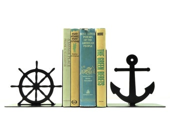 Nautical Metal Art Bookends - Free USA Shipping