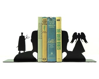 Angel Devil Metal Art Bookends - Free USA Shipping