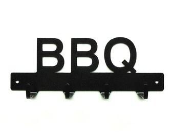 BBQ Grill Utensil Metal Art Rack - Free USA Shipping