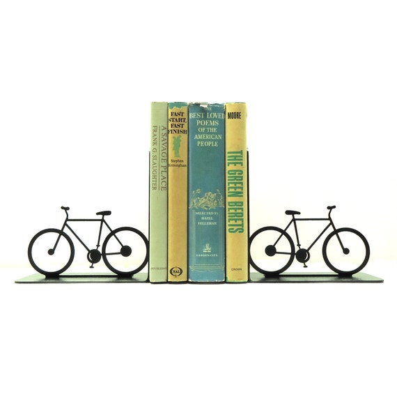 Bicycle Metal Art Bookends - FREE USA Shipping