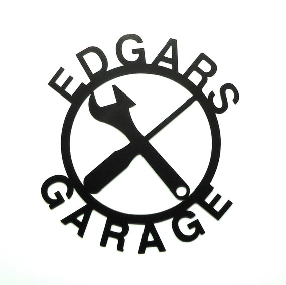 Custom Personalized Metal Art Garage Sign - Free USA Shipping