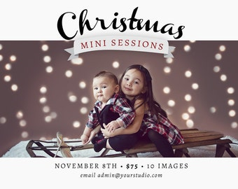 Elegant Banner Christmas Mini Session Announcement Template
