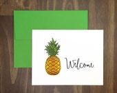 anytime card / welcome pineapple / housewarming / hospitality / friendship / for friend / new home / blank / best wishes / any occasion
