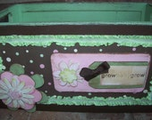 Grow Baby Grow Wooden Keepsake Box