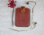 brown leather wallet, cognac leather wallet, Credit Card Holder, mens modern wallet, minimal credit Card Wallet, gift for dad, him, august