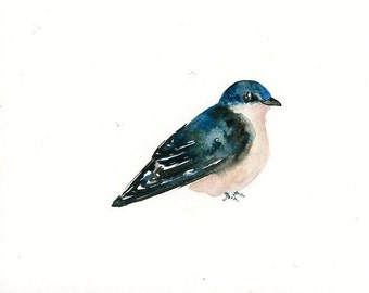 SWALLOW Original watercolor painting 10x8inch