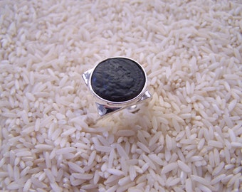Authentic Ancient Greek Coin Ring Of of Zeus Minted c. 50 B.C.