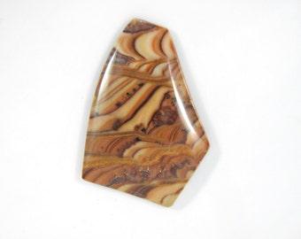 Wave dolomite cab,freeform designer cab, Rolling Hills Dolomite cabochon, natural stone cab,artisan cab, handcut USA,