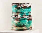 Turquoise Jewelry Teal Leather Cuff - 2016 Etsy Shopping - Hand Painted Leather Accessory - Winter Finds - Leather Bracelets For Women