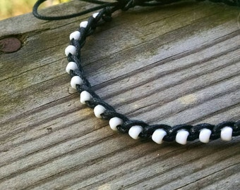Anklet Black and White Size Options
