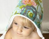 Bamboo Hooded Baby Towel: Blue Floral