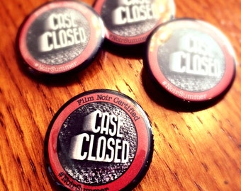 Case Closed: Film Noir Certified Button