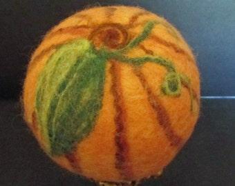 Felted Wool Ball Pumpkin Patch
