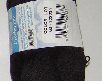 Alize Miss crochet thread size 10, 100% mercerized cotton, #60 black