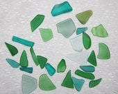 Green Sampler Faux Sea Glass recycled glass 28 pieces